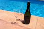 Champagne at the pool on Ibiza